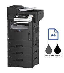Impresora multifuncional konica minolta modelo bizhub 4750 en Iberica de duplicadoras
