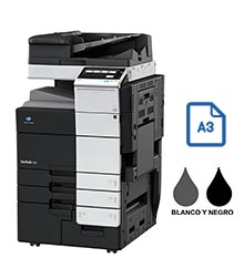 Impresora multifuncional konica minolta modelo bizhub 758 en Iberica de duplicadoras