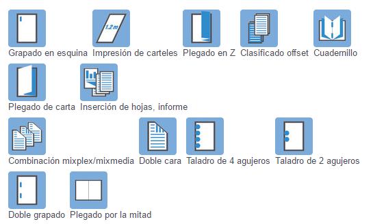 Impresora Bizhub Konica Minolta 758 acabados de impresión. Distribuidor oficial de Konica Minolta en Madrid, Ibérica de Duplicadoras