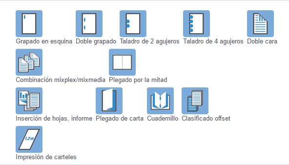 Impresora Bizhub Konica Minolta C258 acabados de impresión. Distribuidor oficial de Konica Minolta en Madrid, Ibérica de Duplicadoras