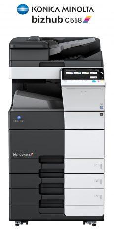 Impresora y fotocopiadora Konica minolta modelo bizhub c558 en Ibéricas de duplicadoras