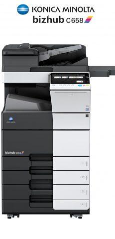 Impresora y fotocopiadora Konica minolta modelo bizhub c658 en Ibéricas de duplicadoras