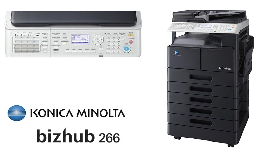 Impresora multifunción Konica Minolta Bithub 226. Distribuidor oficial de Konica Minolta en la Comunidad de Madrid, Ibérica de Duplicadoras