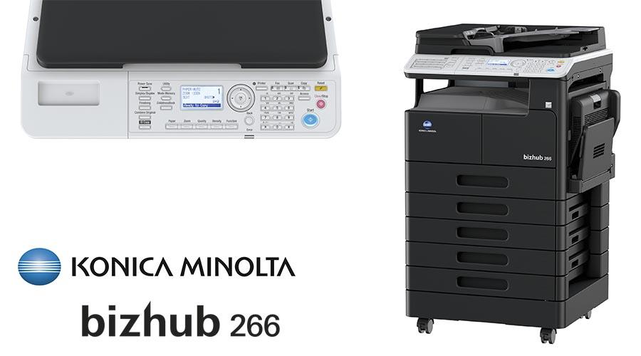 Impresora multifunción Konica Minolta Bithub 266. Distribuidor oficial de Konica Minolta en la Comunidad de Madrid, Ibérica de Duplicadoras