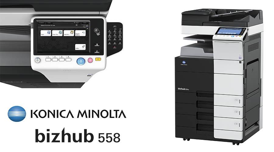Impresora multifunción Konica Minolta Bithub 558. Distribuidor oficial de Konica Minolta en la Comunidad de Madrid, Ibérica de Duplicadoras