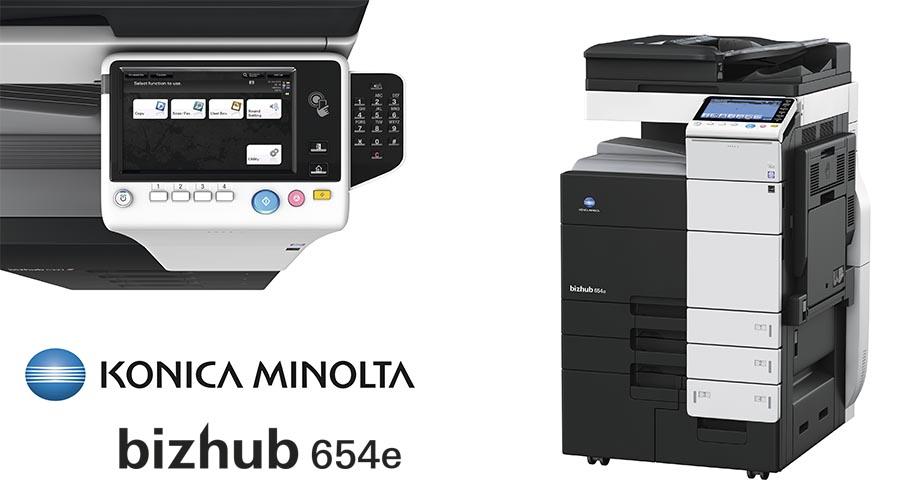 Impresora multifunción Konica Minolta Bithub 654e. Distribuidor oficial de Konica Minolta en la Comunidad de Madrid, Ibérica de Duplicadoras