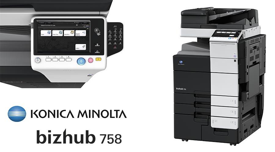 Impresora multifunción Konica Minolta Bithub 758. Distribuidor oficial de Konica Minolta en la Comunidad de Madrid, Ibérica de Duplicadoras