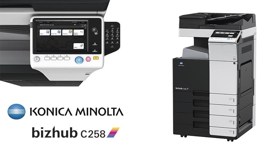 Impresora multifunción Konica Minolta Bithub C258. Distribuidor oficial de Konica Minolta en la Comunidad de Madrid, Ibérica de Duplicadoras