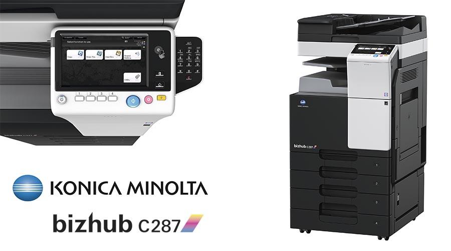 Impresora multifunción Konica Minolta Bithub C287. Distribuidor oficial de Konica Minolta en la Comunidad de Madrid, Ibérica de Duplicadoras