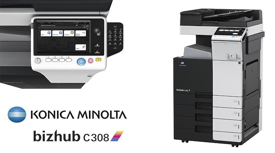 Impresora multifunción Konica Minolta Bithub C308. Distribuidor oficial de Konica Minolta en la Comunidad de Madrid, Ibérica de Duplicadoras