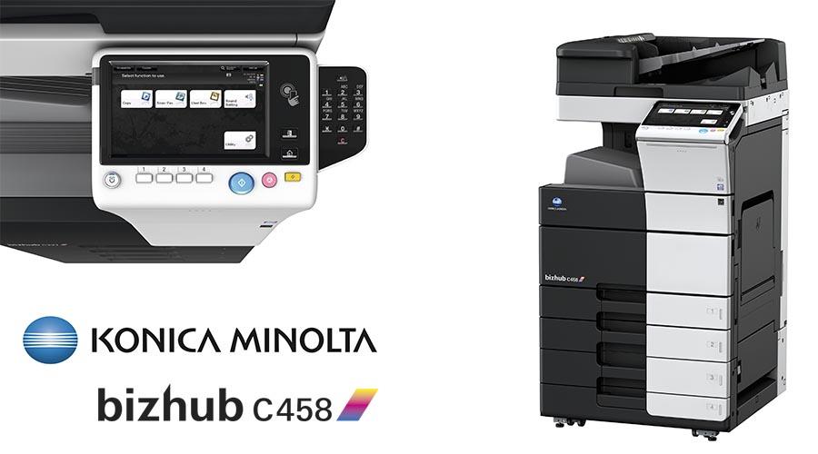 Impresora multifunción Konica Minolta Bithub C458. Distribuidor oficial de Konica Minolta en la Comunidad de Madrid, Ibérica de Duplicadoras