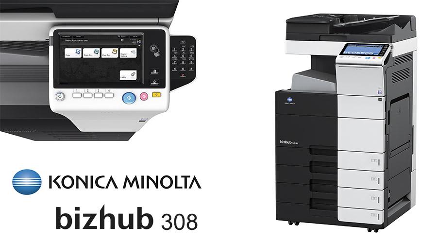 Impresora multifunción Konica Minolta Bithub 308. Distribuidor oficial de Konica Minolta en la Comunidad de Madrid, Ibérica de Duplicadoras